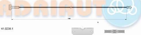Adriauto 41.0238.1 - Трос, стояночная тормозная система autosila-amz.com