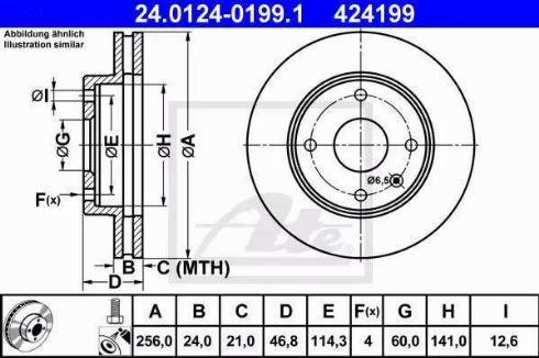 ATE 24.0124-0199.1 - Тормозной диск autosila-amz.com