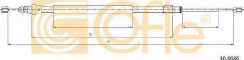 Cofle 10.6686 - Трос, стояночная тормозная система autosila-amz.com