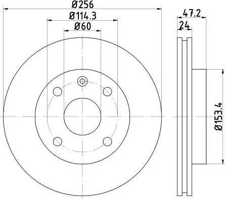 HELLA 8DD 355 111-361 - Тормозной диск autosila-amz.com