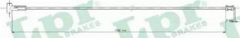 LPR C0755B - Трос, стояночная тормозная система autosila-amz.com