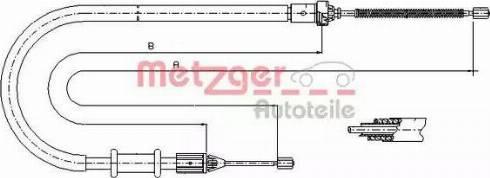 Metzger 11.6675 - Трос, стояночная тормозная система autosila-amz.com