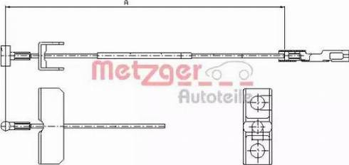 Metzger 11.6802 - Трос, стояночная тормозная система autosila-amz.com