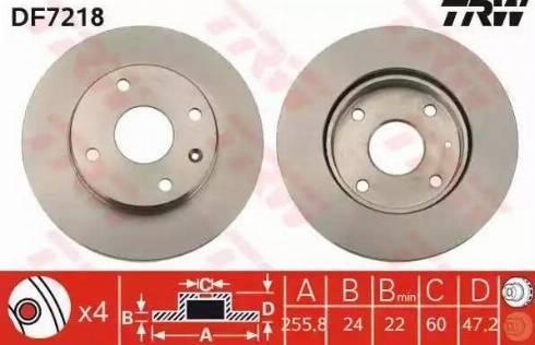 TRW DF7218 - Тормозной диск autosila-amz.com